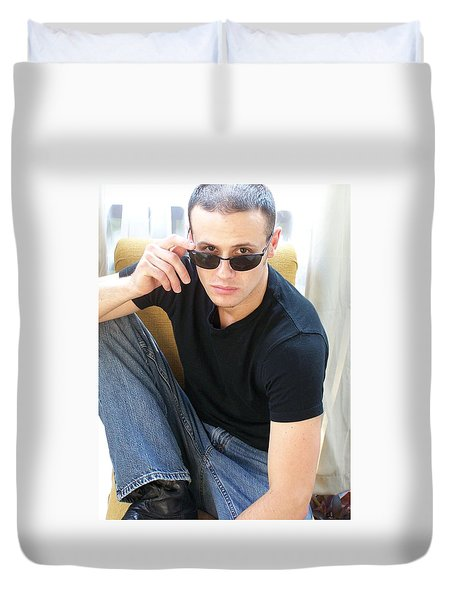 Lookin At You Baby  Duvet Cover by Jake Hartz