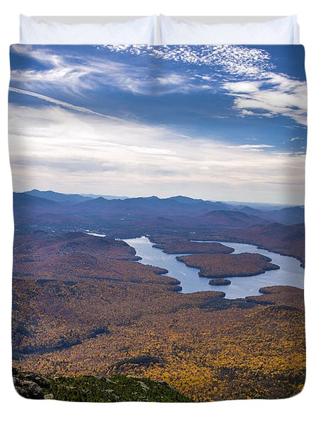 Lookin Down On Lake Placid Duvet Cover