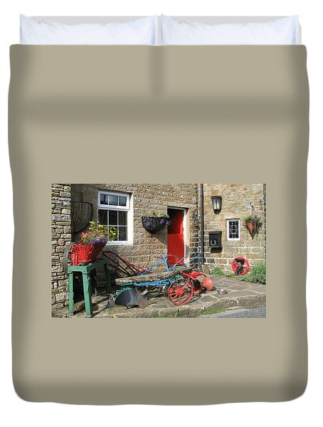 Looking At A Old Stone House Duvet Cover by Joyce Woodhouse