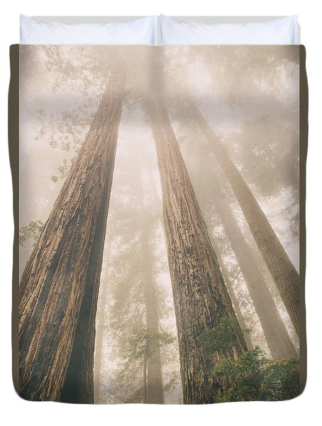 Looking At Giants Duvet Cover