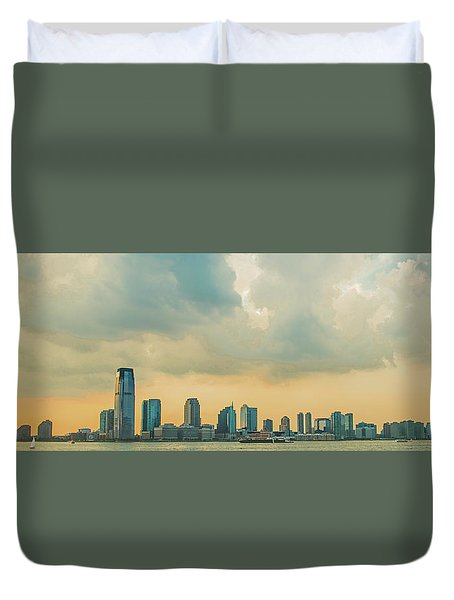 Looking At New Jersey Duvet Cover