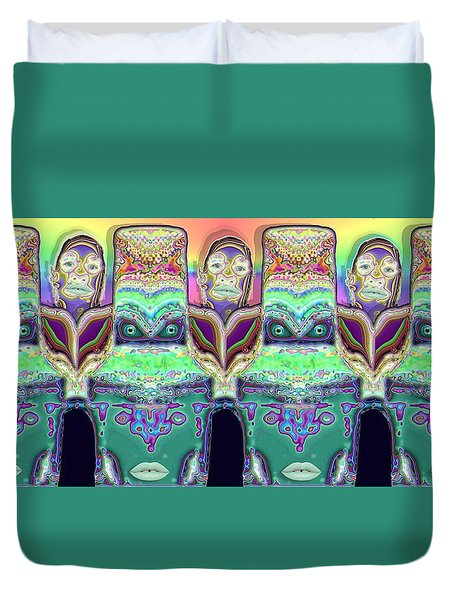 Duvet Cover featuring the digital art Looking At You by Ron Bissett