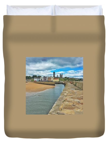 Looking Back To The St Andrews Skyline Duvet Cover by Katie Farquhar