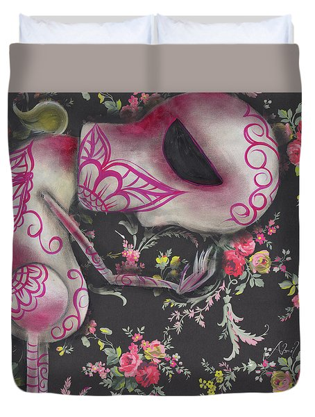 Looking Down Duvet Cover by Abril Andrade Griffith