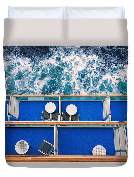 Looking Down At Sea Duvet Cover
