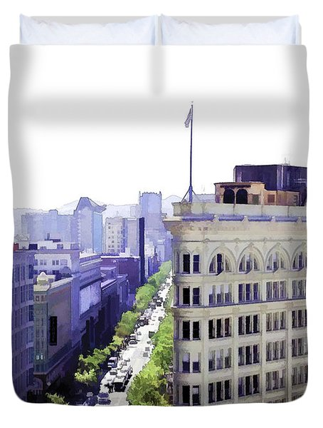 Looking Down Market Duvet Cover