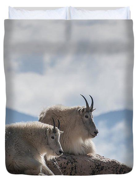 Looking Down On The World Duvet Cover