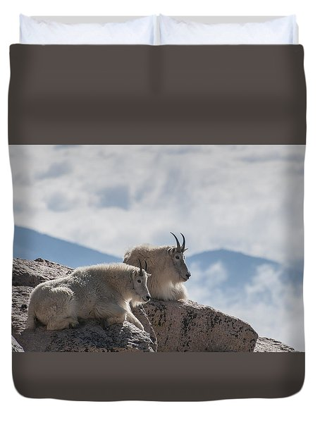Duvet Cover featuring the photograph Looking Down On The World by Gary Lengyel