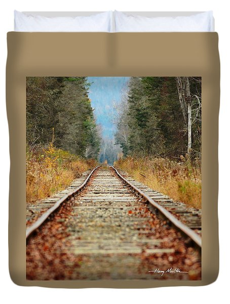 Looking Down The Tracks Duvet Cover