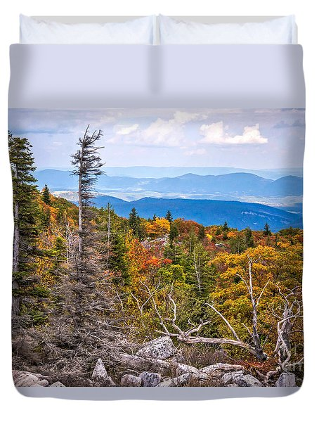 Looking East From Bear Rocks 4290c Duvet Cover