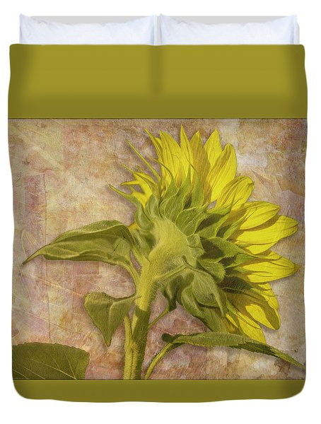 Duvet Cover featuring the photograph Looking East by Melinda Ledsome
