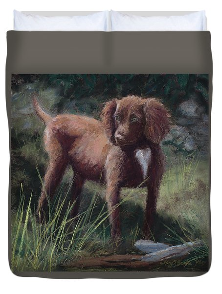 Looking For Adventure Duvet Cover by Mary Benke