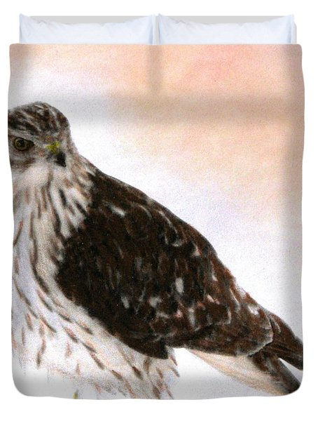 Looking For Breakfast Duvet Cover by Angela Davies