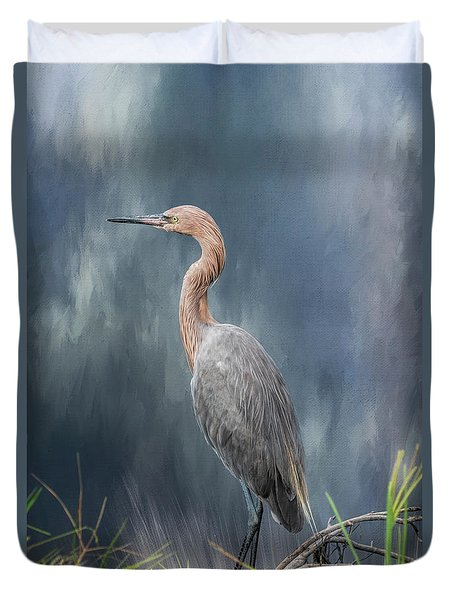 Duvet Cover featuring the photograph Looking For Food by Kim Hojnacki
