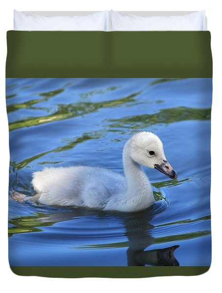 Duvet Cover featuring the photograph Looking For Friends by Lynn Hopwood