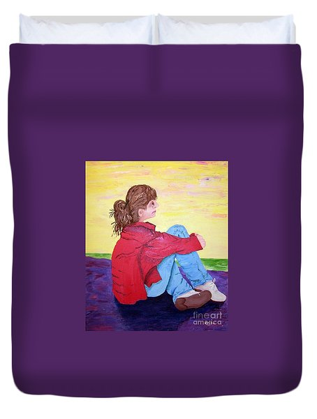 Looking For Hope Duvet Cover by Lisa Rose Musselwhite
