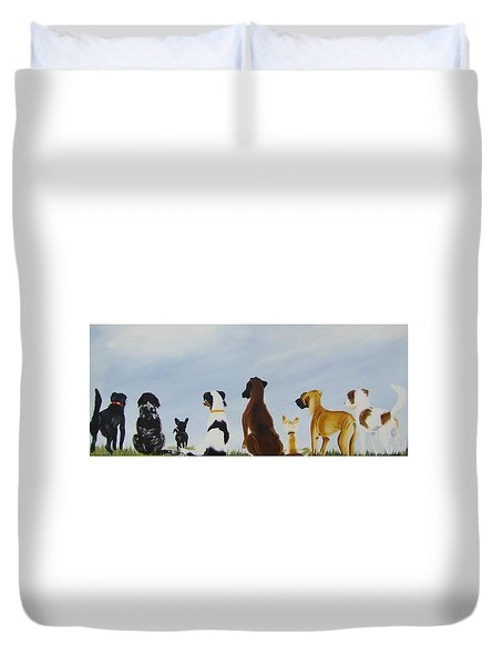Looking For Our Forever Home Duvet Cover