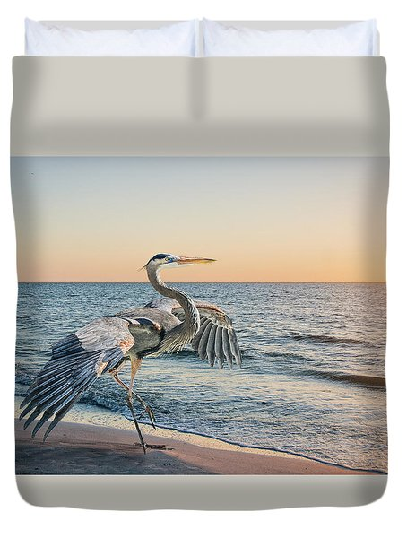 Looking For Supper Duvet Cover by Brian Tarr