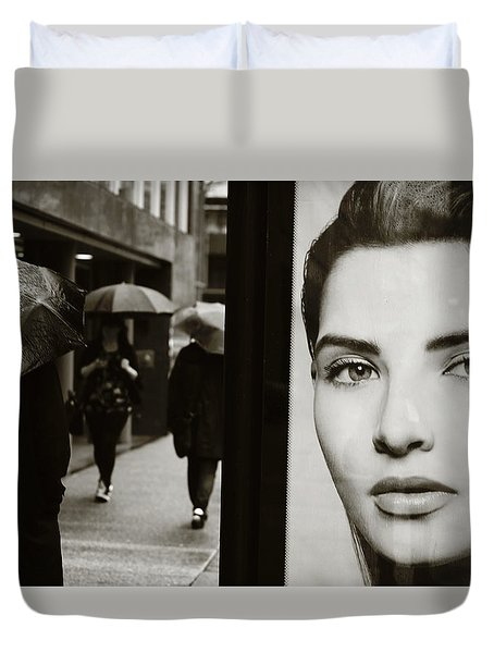 Duvet Cover featuring the photograph Looking For Your Eyes by Empty Wall