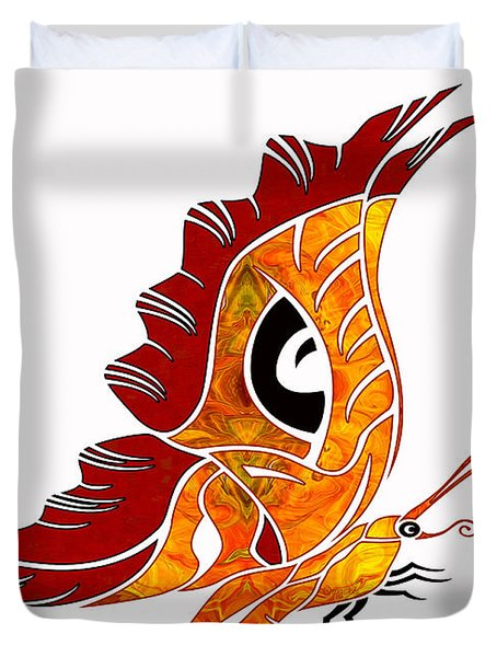 Looking Forward Abstract Bliss Butterflies By Omashte Duvet Cover