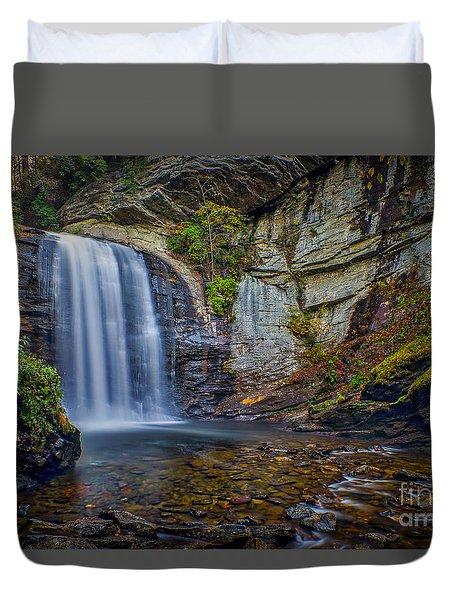Looking Glass Falls In The Blue Ridge Mountains Brevard North Carolina Duvet Cover