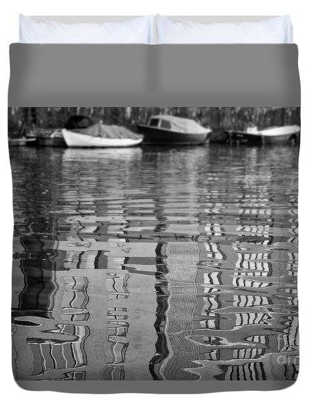 Looking In The Water Duvet Cover