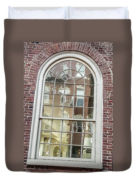Looking Into History Duvet Cover