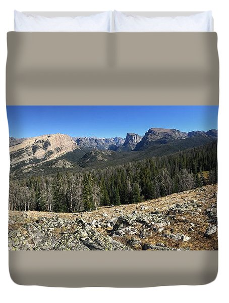 Looking Into The Bridger Wild Lands Duvet Cover