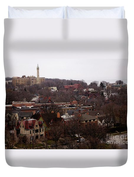 Looking North From  Lafayette And Summit. Duvet Cover by David Blank