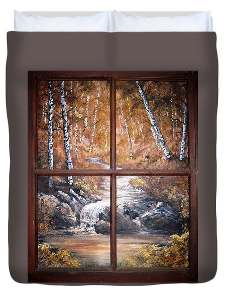 Looking Out Duvet Cover by Megan Walsh