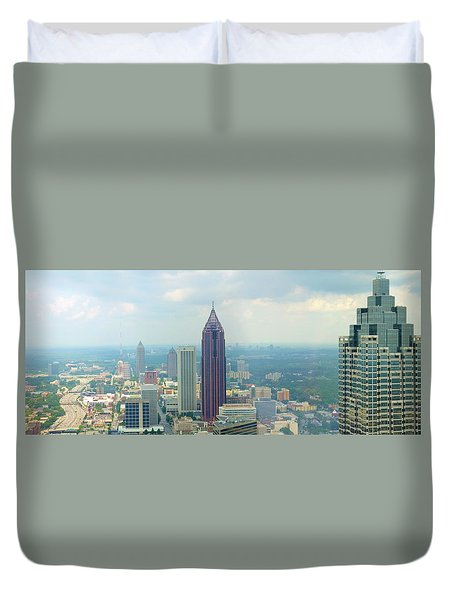 Duvet Cover featuring the photograph Looking Out Over Atlanta by Mike McGlothlen