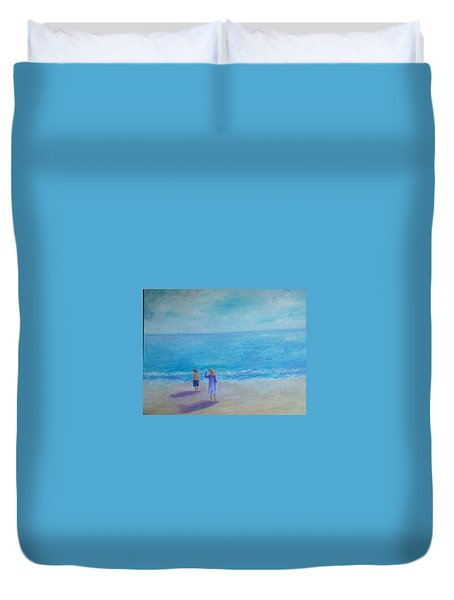 Looking Out To Sea Duvet Cover