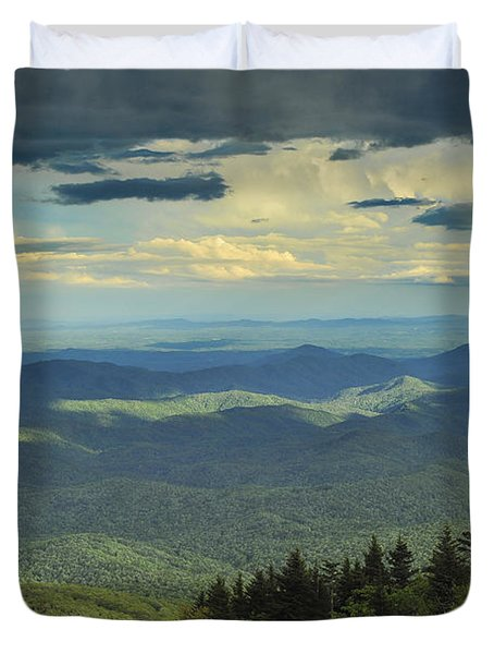 Looking Over The Valley Duvet Cover