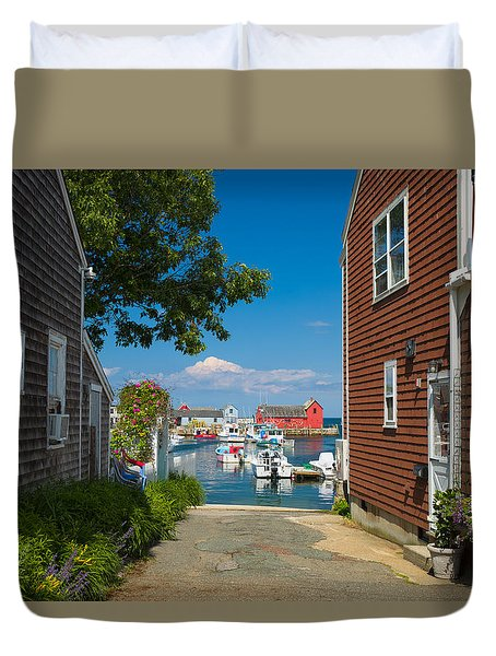 Looking Rockport Duvet Cover