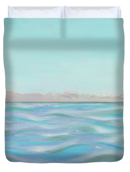 Looking South Tryptic Part 1 Duvet Cover