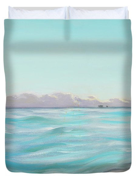 Looking South Tryptic Part 2 Duvet Cover