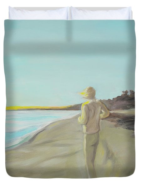 Looking South Tryptic Part 3 Duvet Cover