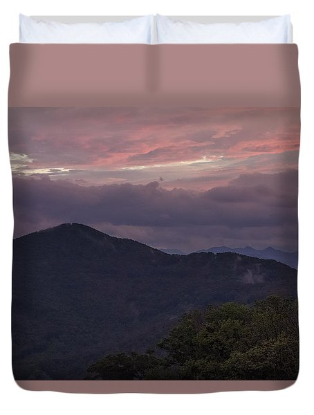 Looking Toward The Black Mountains Duvet Cover