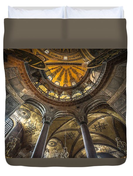 Looking Up At The Aya Sofia Ceiling Duvet Cover