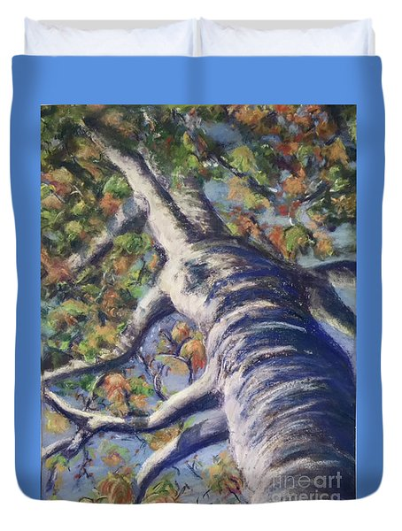 Looking Up - Fall Duvet Cover