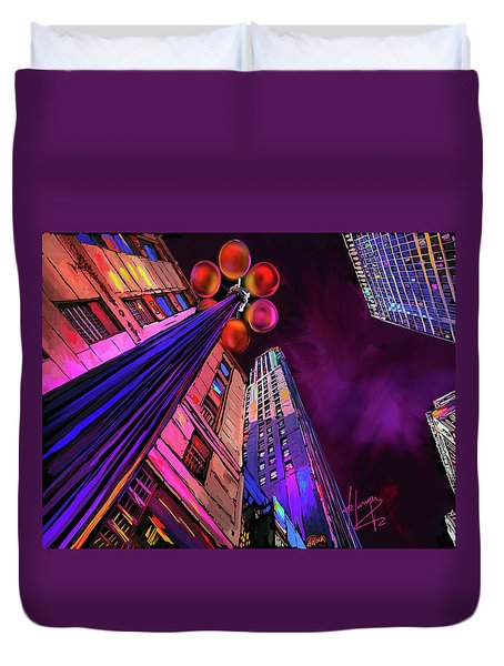 Looking Up In Chicago Duvet Cover