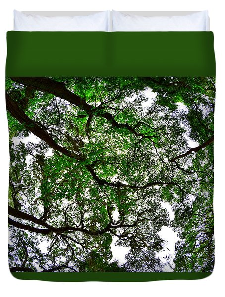 Looking Up The Oaks Duvet Cover