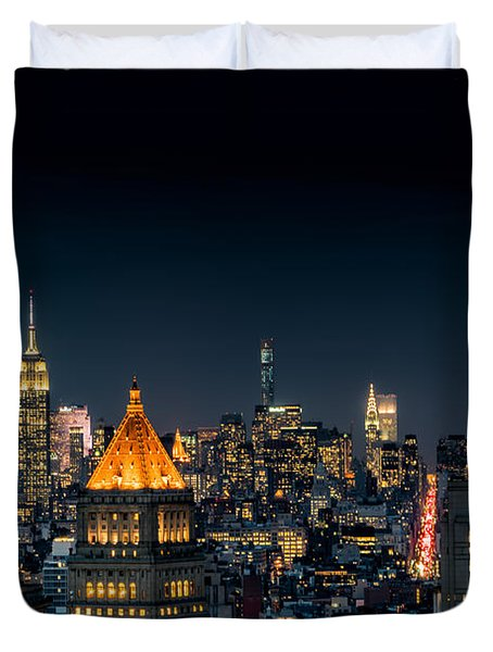 Looking Uptown Duvet Cover by Rafael Quirindongo