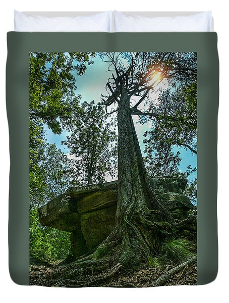 Duvet Cover featuring the photograph Lookout Mountain, Tn by Don Olea