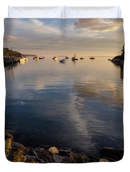 Lookout Point, Harpswell, Maine  -99044-990477 Duvet Cover