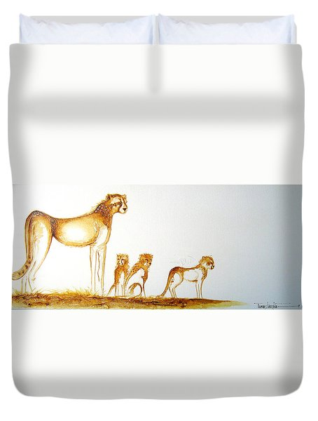 Lookout Post - Original Artwork Duvet Cover
