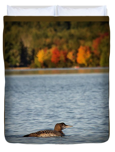 Loon Chick Duvet Cover