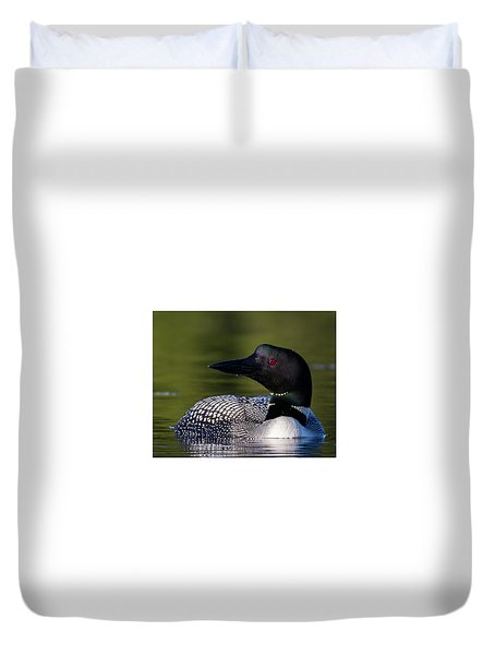 Loon Close Up Duvet Cover