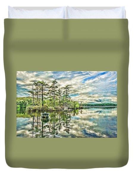Loon Island Duvet Cover