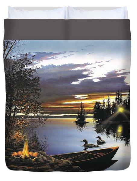 Loon Lake Duvet Cover